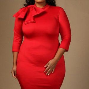 Dresses & Skirts - Retro 3/4 Sleeve Bow Dress